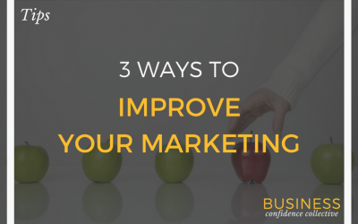 3 WAYS TO IMPROVE YOUR MARKETING RESULTS