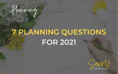7 Small Business Planning Questions for 2021